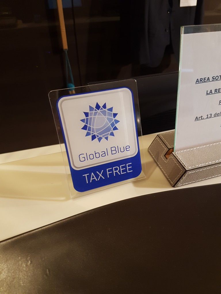global blue tax free logo in italy