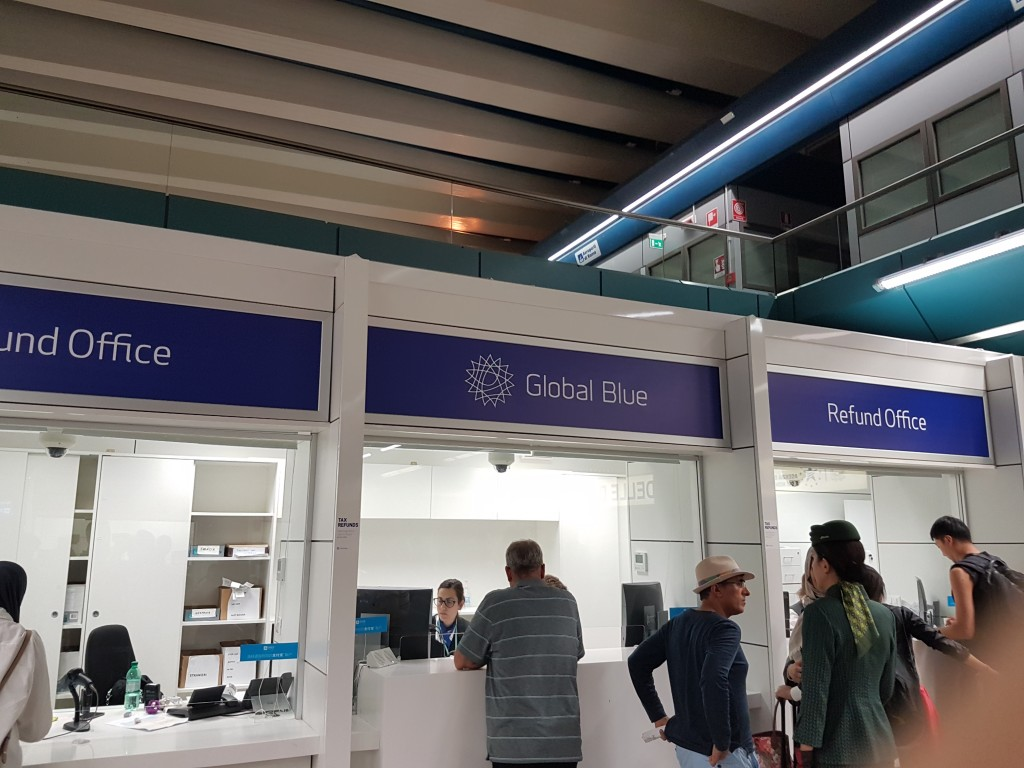 Global Blue roma fiumicino airport italy